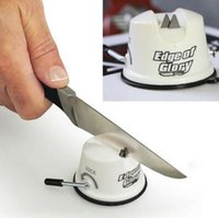 Wholesale Edge of Glory Knife Sharpener Dual Teeth Pull Lock Suction Creative Kitchen Tool
