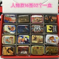 Wholesale New vintage America memory series quality iron case storage case tin box per