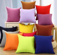 Wholesale 100pcs New Arrival Decorative Sofa Car Home Decor Candy Color cm Polyester Pillow Case Cover
