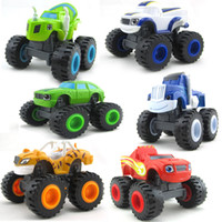 Wholesale 6pcs Blaze Monster Machines Car Toys Transformation Miracle Racing Vehicle Set Gifts For Kids Children Russia Good Quality