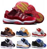 Wholesale New Retro Basketball Shoes Sneakers Men Women Grey Retro Shoes XI Low Man Bred Georgetown Space Jam Citrus GS