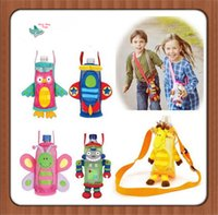 animal children water bottle - Sozzy Cute Animal Shape Children Water Bottle Pocket Bags Beverage Bottle Handle Bags Easy To Carry Solid Durable