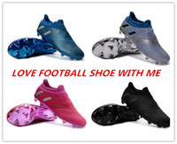 Wholesale 2017 High Top Quality Soccer Shoes Mens BOYS Pureagility FG AG MEsSi Fashion Football Boots Drop Shipping size