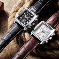 antique buckle - MEGIR Mens Watches Top Brand Luxury Men Military Sport Luminous Wristwatch Chronograph Leather Quartz Watch relogio masculino