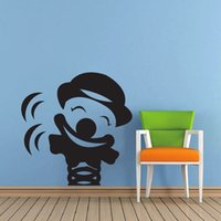 Wholesale DIY Happy Clown Wall Stickers X88CM Funny Home Decoration Bedroom Parlor Decoration Decor Sticker