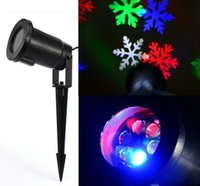 Wholesale 2016 Christmas Colorful Lighting LED Projector Snowflake Light W Waterproof Garden Lamp Outdoor Light Outdoor Decoration