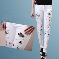 Where to Buy Jeans Hole Rhinestones Online? Where Can I Buy Jeans ...