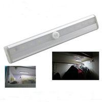 Wholesale 10 LED Cordless Motion Sensor Closet Cabinet LED Night Light Stairs Light Step Light Bar with Magnetic Strip for Bedroom Corridor Basement