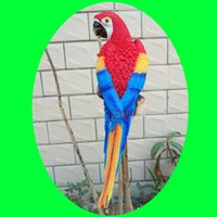 Resin best wood home decorations - 2017Hottest sale Home Decoration Bionic Parrot Resin Handicraft Best Ornaments For Part And House Garden Decor