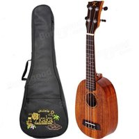 Wholesale Kaka KUP Inch Pineapple Type Mahogany Koa Back Sides Rosewood Fingerboard Aqulia string Ukulele with Gig Bag
