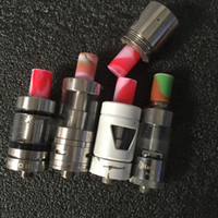 baby colorful - Hotting UK USA Silicone Mouthpiece Cover Drip Tip Disposable Colorful Silicon Testing Caps Rubber Short Test Tips Tester Cap for TFV8 Baby