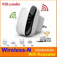 achat en gros de wifi gratuit amplificateur de signal-Wireless-N Wifi Répéteur Réseau Wi-Fi Routeurs 300Mbps Expandeur Expander Signal Booster Extendeur WIFI Ap Wps Cryptage EU / US / UK / AU Free DHL