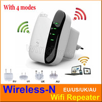 Wholesale Wireless N Wifi Repeater Network Wi Fi Routers Mbps Range Expander Signal Booster Extender WIFI Ap Wps Encryption EU US UK AU Free DHL
