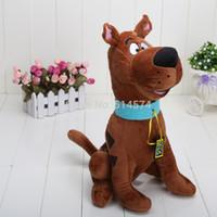 Venta al por mayor-13 '' Muñecas lindas del perro de Scooby Doo de la felpa suave de la alta calidad rellenaron el juguete nuevo al por mayor y venta al por menor