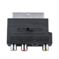 adapter scart video - Hot Selling RGB Scart to Composite RCA S Video AV TV Audio Adapter Converter For TV DVD VCR