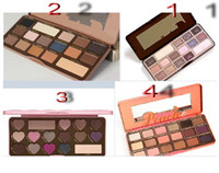 Wholesale lowest price High quality HOT new makeup MIX chocolate bar semi sweet bonbons Sweet Peach eyeshadow palette