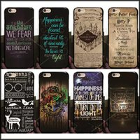Caso duro de la PC de los marauders de Harry Potter para el iphone 7 / 7p / 6 6S / más 5 5 Hogwarts Map Words Plástico Back Cover Skin Shell Paquete de OPP