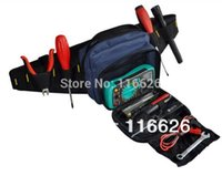 Wholesale Waist Canvas Tool Bag w belt for electrician Small Tool Equipment Case Organizer waterproof without tools