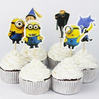 Wholesale Minions Party cupcake toppers picks decoration for kids birthday party favors Decoration supplies