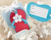 Wholesale New arrival Flip flop luggage tag beach style wedding favor bridal shower gifts
