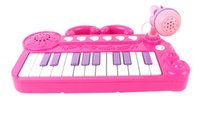Wholesale boy and gril children s educational toys new cartoon keyboard music toy handheld adjustable tuning