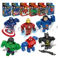 Wholesale Fedex DHL Free Avengers Superhero Building Blocks D Minifigures Model Kids Toy Bricks Marvel Super Heroes spider man Ironman Z647