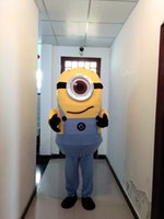 Wholesale high quality Despicable me one eye minions mascot costumes halloween party Adult Size clothing mascot costume costumes Christmas