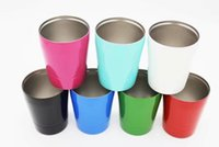 Wholesale Cheapest price ml oz bilayer vacuum Stainless Steel Wine Glasses Multicolors Wine Cups Mugs Vs Hydro Flask Cola Shaped Bottles