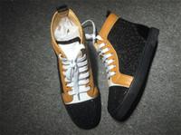 achat en gros de top sneakers hautes strass-Avec Boîte France Style Bottom Bottines Haut Haut Rhinestone Femmes Chaussures De Sport Chaussures Chaussures De Plein Air Chaussures Casual 35-46