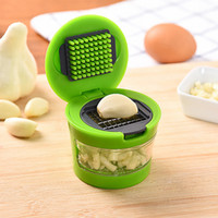 Wholesale 1pcs multifunction Plastic Garlic Press Presser Crusher Slicer Grater Dicing Slicing and Storage Kitchen Vegetable Tool