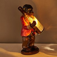 Wholesale Personality Create Resin Orangutan LED Table Lamp Fit for the Study Room Bedroom Foyer Dest Light