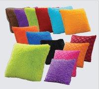 Wholesale Pure Color Pillow Cases Simple Pillow Covers Colorful Pillowcase Office Cushion Cover Car Sofa Throw Pillow Case Home Décor cm KKA1288