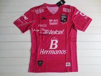 Precio de Camisetas de fútbol de color rosa-Club Leon 16-17 3rd Pink Fans Version Soccer Jersey Camisetas de fútbol tailandesas AAA + Qaulity Camisetas De Futbol