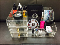 acrylic retail displays - Newest Vape display storage box Black Clear Acrylic Retail box for Mod RDA Vape Flavor box DHL Free Ship