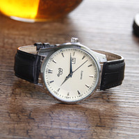 auto glass business for sale - hot style fashion leather waterproof quartz watch for man sale for Merry Christmas birthday or Merry Christmas gift
