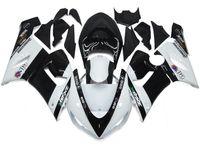 al por mayor plásticos zx6r-Nuevos carenados para Kawasaki ZX6R ZX-6R Ninja 636 05 06 2005 2006 Cubierta del ABS El kit plástico del carenado de la motocicleta fijó la venta caliente elf negro blanco de la compra