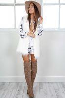 Wholesale New Winter Women Fur Coat European warm Fur Vest High quality white fur White plus Size Ladies Clothing FS1084