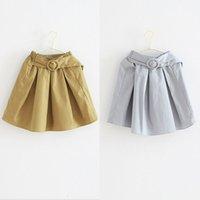 belted pencil skirt - Fashion Novelty Preppy Style Classic Girls Skirts belt Children kids Girl Dress Pencil Skirt Girls Clothes Child Clothing wear Lovekiss A85