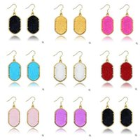 Wholesale Gometric Kendra Earrings Scott Style Acrylic Chandelier Dangles for Women Mixed Fashion Jewelry Colors Colors