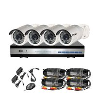 Wholesale YSCAM CH P Security Camera System Outdoor Indoor Home Video Day Night IR CUT CCTV Surveillance System IP66 Waterproof Cameras NO HDD