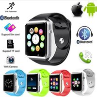 Wholesale price A1 Bluetooth Smart Watch with SIM Card and TF Card Slot for Android Ios Phone