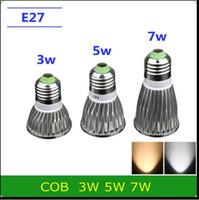 Wholesale 50 pack LED E27 W W W AC85 V LED Led Spotlight Warm Cool White downlight lamp light Bulb Lampada FCC CE ROSH