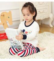 baby dan - Christmas stripe Pajamas outfits new children boys dan girls cartoon tops Pants set baby stripe Suits