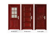 Wholesale W04 Composite Wood Door Panel door entry Door remodeling