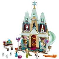 Wholesale Castle Toy For Girls - 519pcs Friend Arendelle Castle Building Blocks Sets Princess Anna Olaf Minifigure Bricks toys Compatible Lepin Friends For Girl