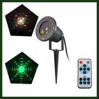Wholesale 2in1 in1 and in1 Waterproof IP65 Red and Green Projector Outdoor Garden laser Star light Tree Landscape lamp with wireless remote control