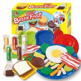 best western sets - Color Clay Dough set Funny Children Toys Western breakfast Free Tools and Accessories For Kid the best gift for children Small