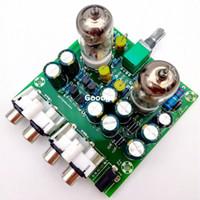 Wholesale Freeshipping J1 Tube Pre Amp Amplifier Board Valve Buffer PreAmp Amplifiers DIY Kits Tube Preamplifier Board Gall Buffers Amplifier DIY KIT