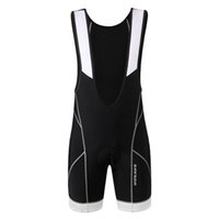 Wholesale WOSAWE Men s Cycling Pants D Gel Padded Cycling Bib Shorts Breathable Quick Dry Lightweight BC106