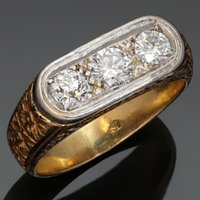 antique filigree ring gold - Fabulous Antique Diamond Hand Made Filigree k Rose Gold Mens Ring Size